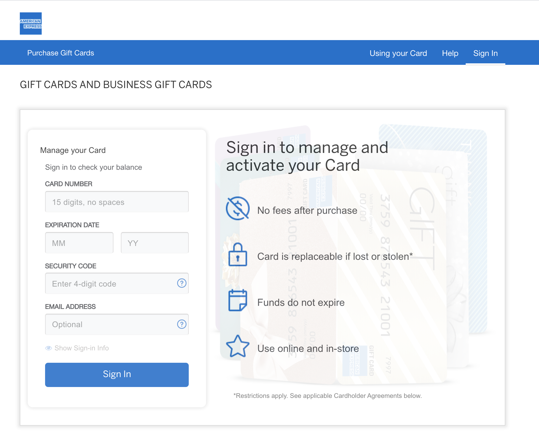 check your available balance on AMEX balance checker website